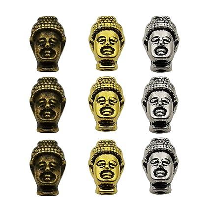 For Charm Bracelet Metal Antique Silver 1 Buddha Charm Bead