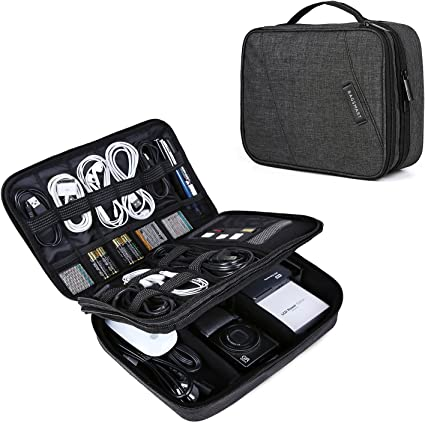 Amazon.com: BAGSMART Organizador electrónico de doble capa ...