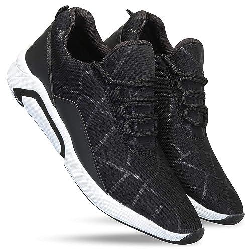 4cf18afe0fcbc0 FUCASSO Men s Smart Fit Grey Blue Sports Shoes  Buy Online at Low ...