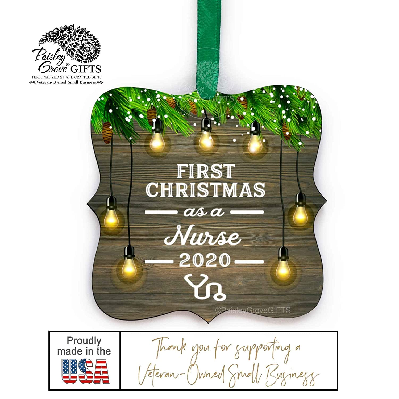 Personalized Nurse Christmas Ornament Stethoscope Ornament Nurse Keepsake Hospital Medical Field Nurse Graduation Gift Rn Lpn Cna Dr