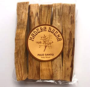 Madera Buena Palo Santo (Holy Wood) Sticks from Peru. Incense Smudge Sticks for Energy Cleansing, Meditating, Relaxation, Stress Relief. Wild Harvested 100% Natural