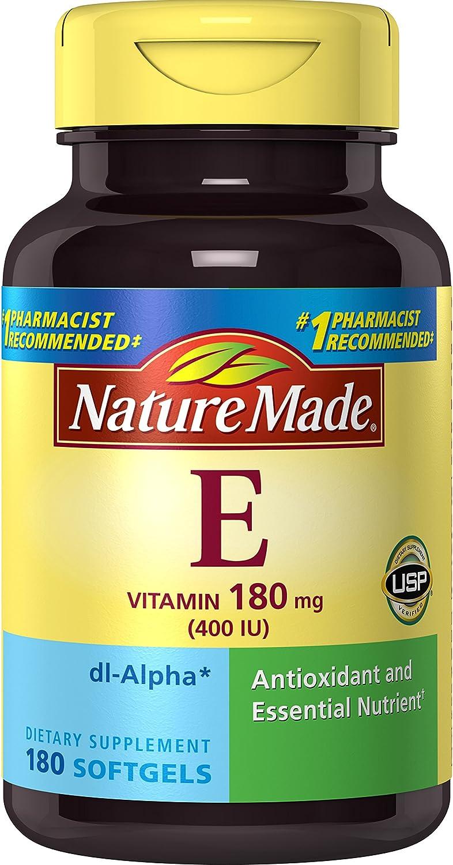 Nature Made Vitamin E 400 IU (dl-Alpha) Softgels Value Size 3 Pack