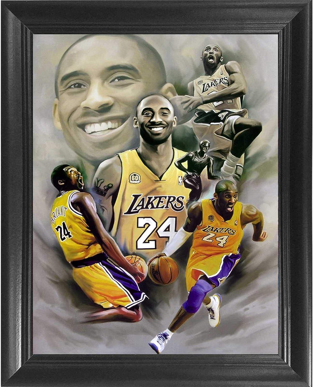 Kobe Bryant artwork POSTER la lakers legend black mamba nba canvas print