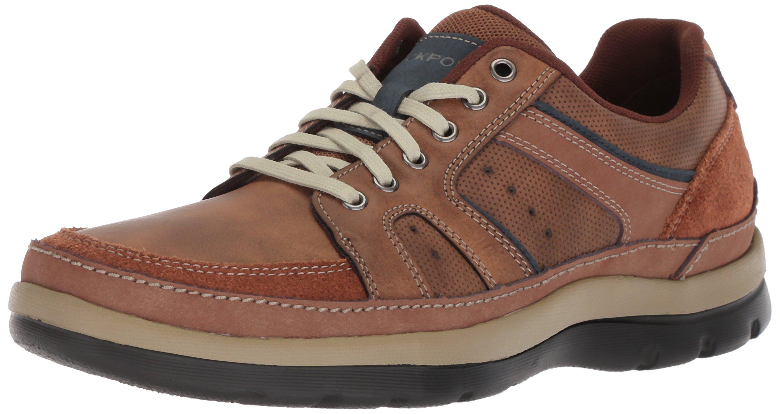 Rockport Men's Get Your Kicks Mudguard Blucher Shoe, tan embossed, 11.5 W US