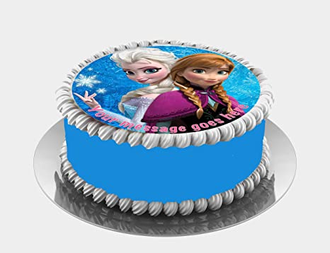 Frozen Princesas Elsa Anna Decoración Comestible Para
