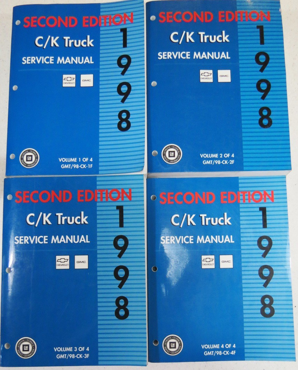 1998 GMC Chevy Silverado Sierra C/K Truck Service Manual SET DAMAGED 2nd  EDITION: gmc: Amazon.com: Books