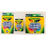 Crayola Ultraclean Fineline Classic Markers, 10 Count, 3-Pack