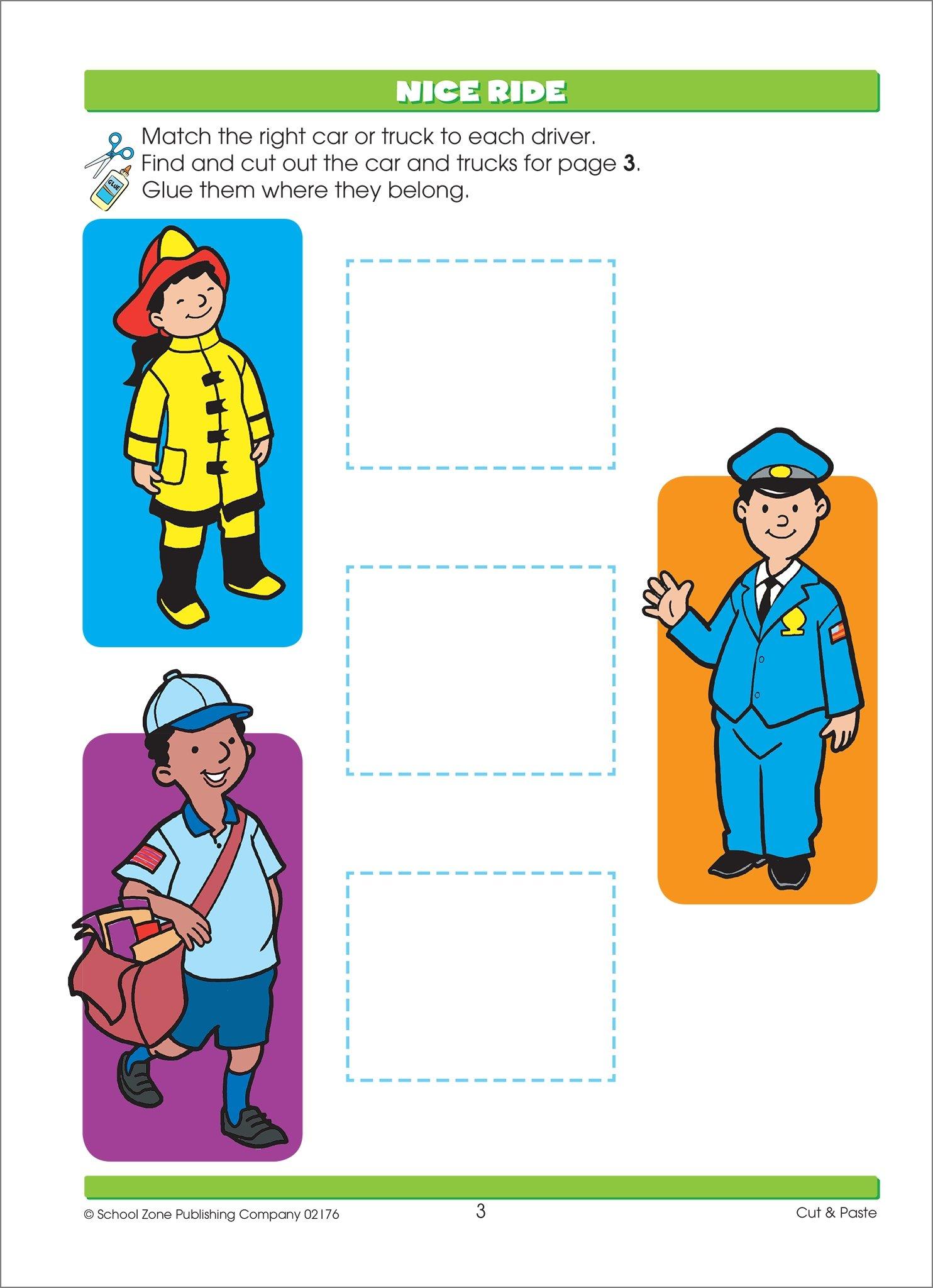 SCHOOL ZONE - Preschool Practice Scissors Skills Workbook, Preschool and  Kindergarten, Ages 3 through 5, Fine Motor Skills, Hand-Eye Coordination:  Joan ...