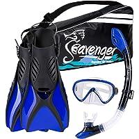 Seavenger Scuba Diving Snorkeling Mask Snorkel Fin Set with Gear Bag