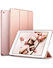ESR iPad Air 2 Case, Ultra-slim Lightweight Smart Case with Trifold Stand and Auto Sleep/Wake Function, Microfiber Lining, Translucent Frosted Back Cover for Apple iPad Air 2 (Rose Gold)