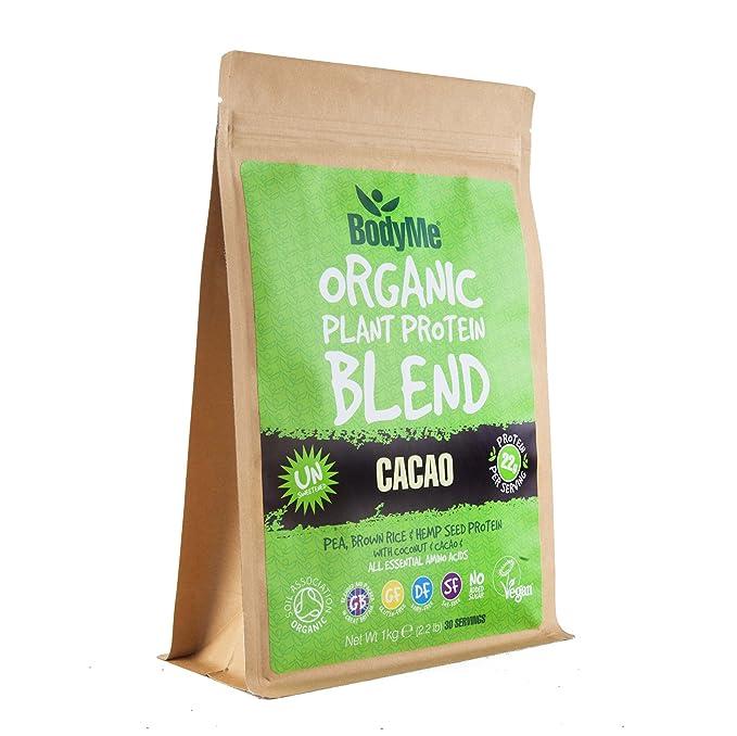 5 opinioni per BodyMe Miscela Di Proteine Vegane Biologiche | Cacao Crudo | 1Kg Polvere | NON