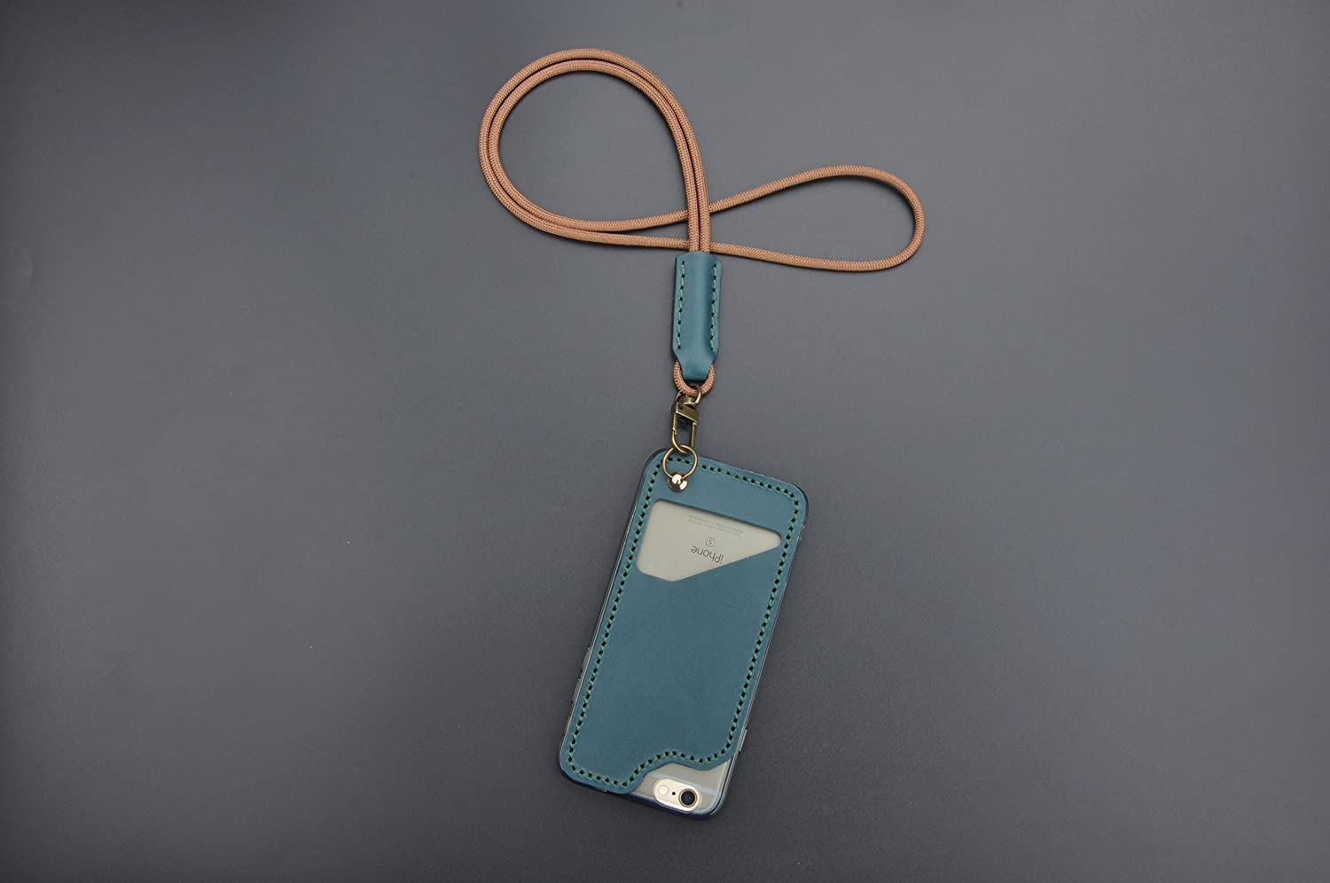 Handmade creative iPhone 6/6s 7 8 plus X lanyard protective shell case sleeve with card holder