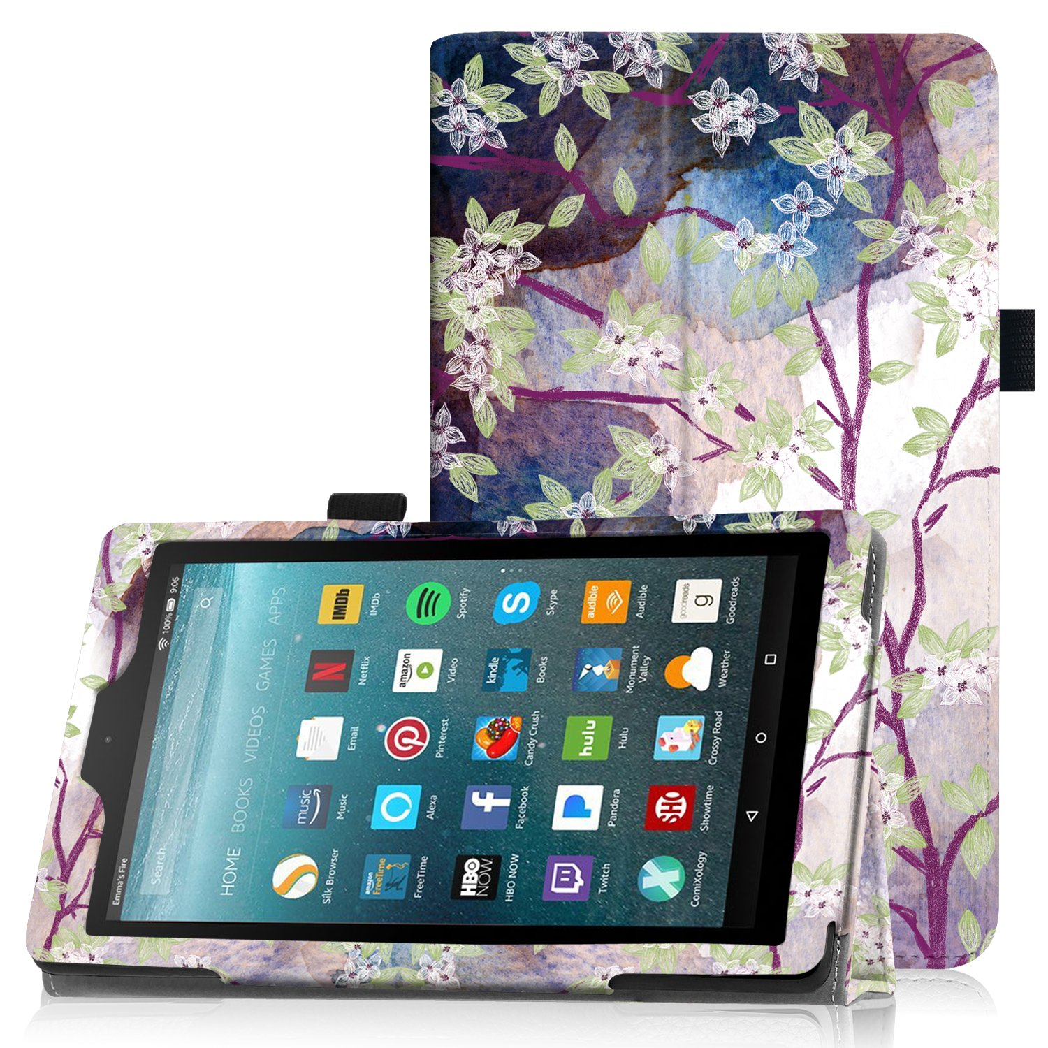 Famavala Folio Case Cover For 7-Inch Fire 7 Tablet [5th Generation 2015/7th Generation 2017] (LoveTree)
