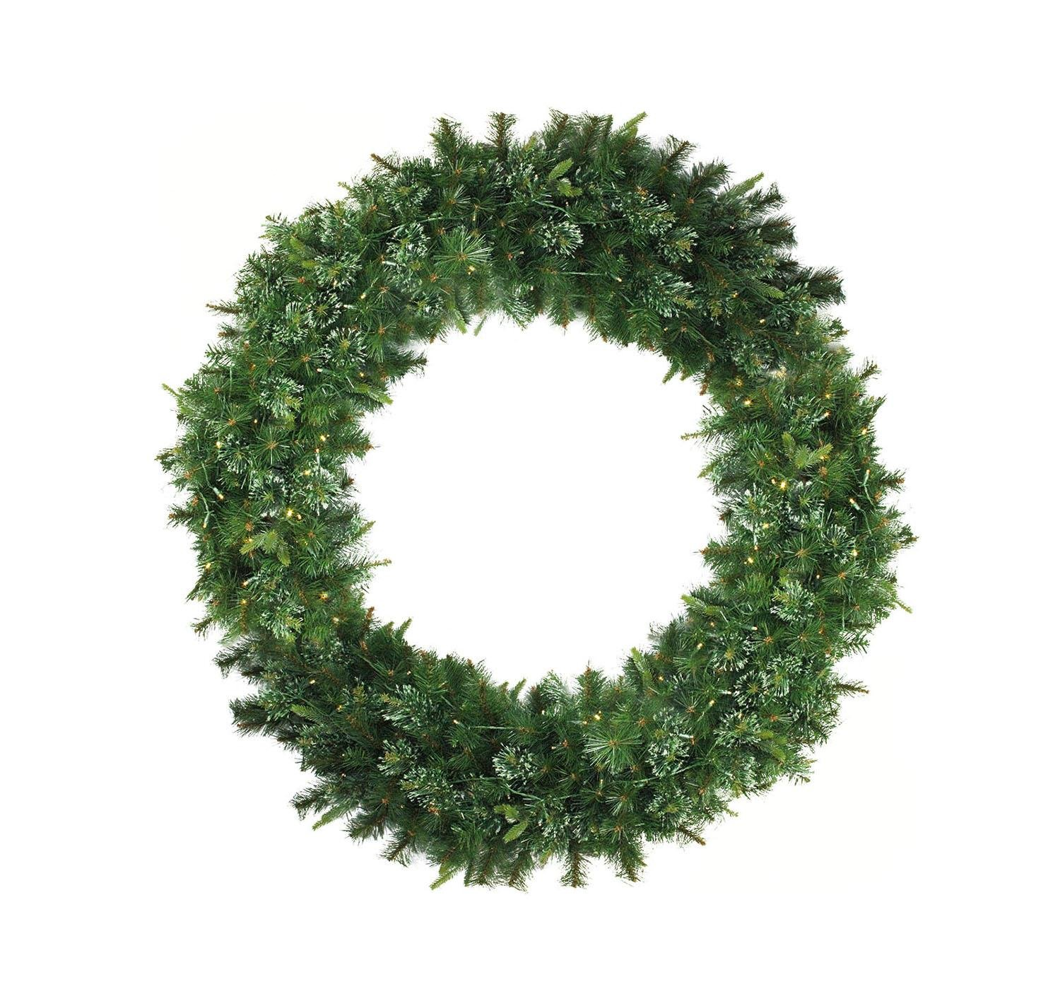 Northlight 5' Pre-Lit Cashmere Mixed Pine Commerical Artificial Christmas Wreath - Warm White LED Lights