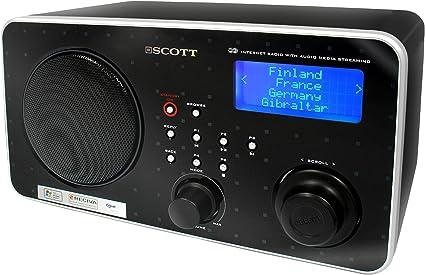 Scott RX i300 WL Radio internet 5500 stations internet 5 W RMS Wifi 802.11bg Horloge et Réveil