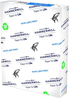 product image for Hammermill Printer Paper, Great White 100% Recycled Paper, 8.5 x 11 - 1 Ream (500 Sheets) - 92 Bright, Made in the USA