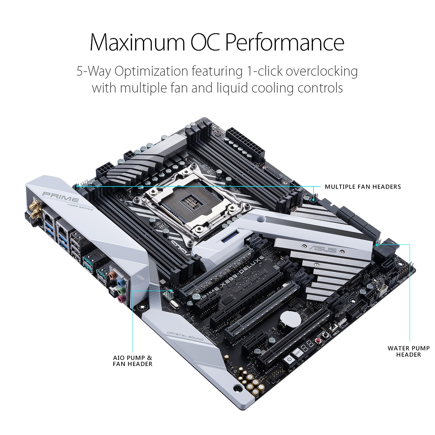Asus Prime X299 Deluxe Lga2066 Ddr4 M2 U2 Thunderbolt 3 Usb 31 X Reverse Camera Wiring Overclockers Uk Forums 299 Atx Motherboard With Dual Gigabit Lan And 80211ad Wifi For Intel Coretm Series Processors Computers Accessories