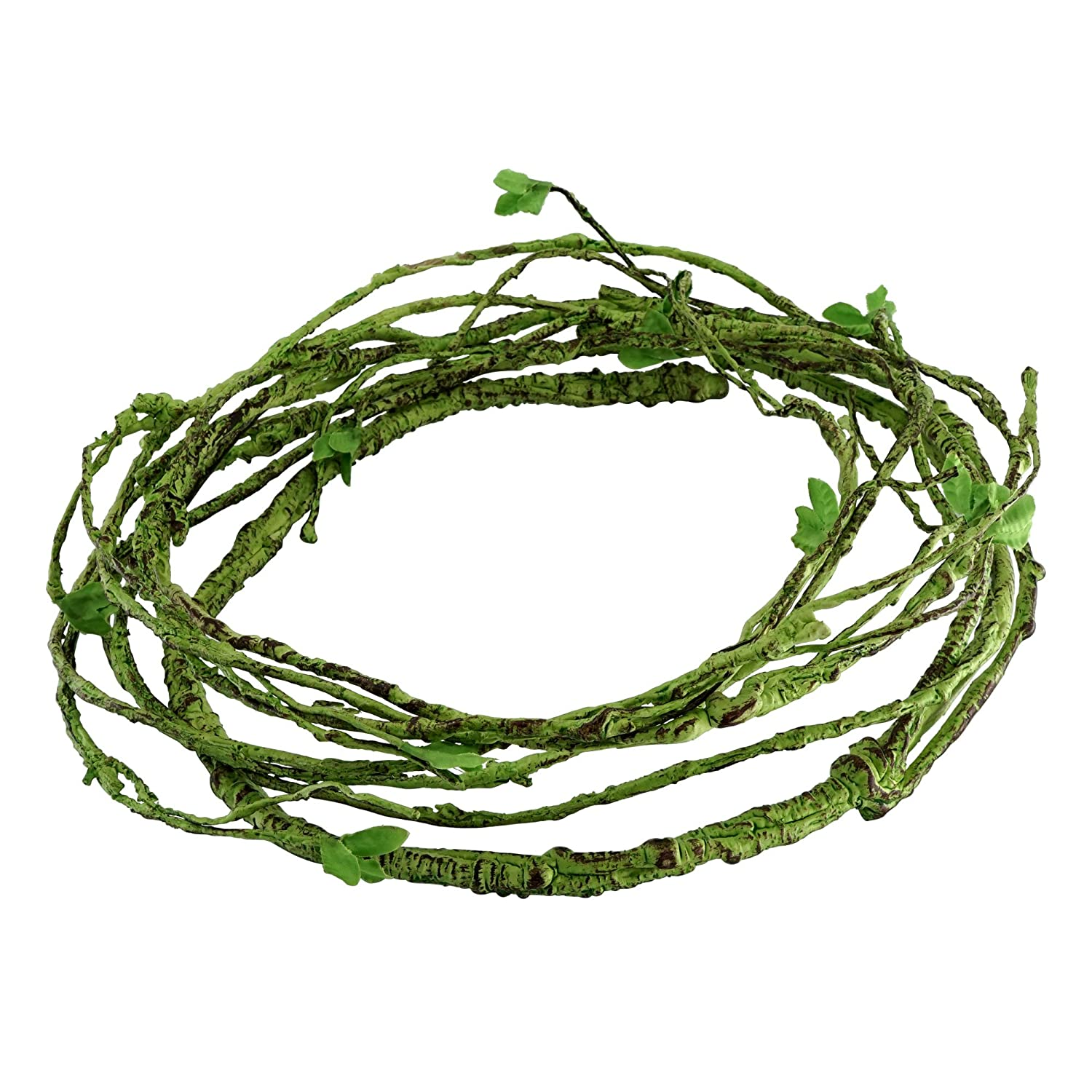 (Green Vines-T) Jungle Vines Flexible Pet Habitat Decor for Lizards, Frogs, Snakes and Other Reptiles