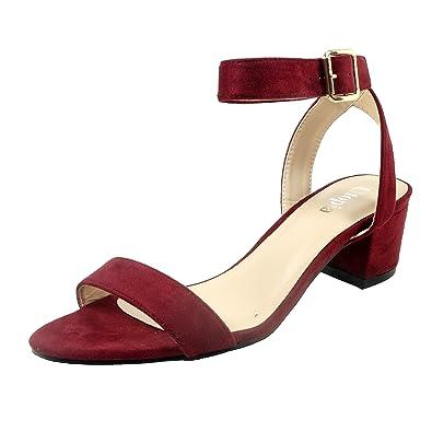 90f1894d69ec Nova Utopia Women s Ankle Strap Low Medium Heel Dress Pump Shoes