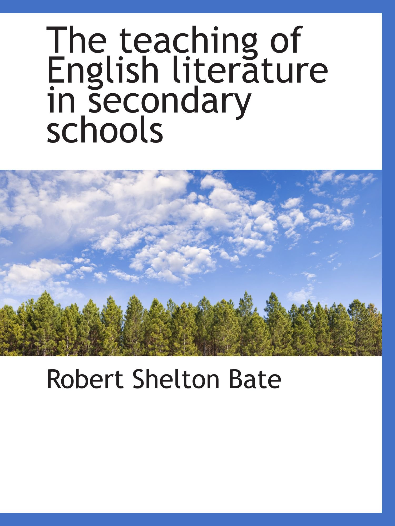 Download The teaching of English literature in secondary schools PDF