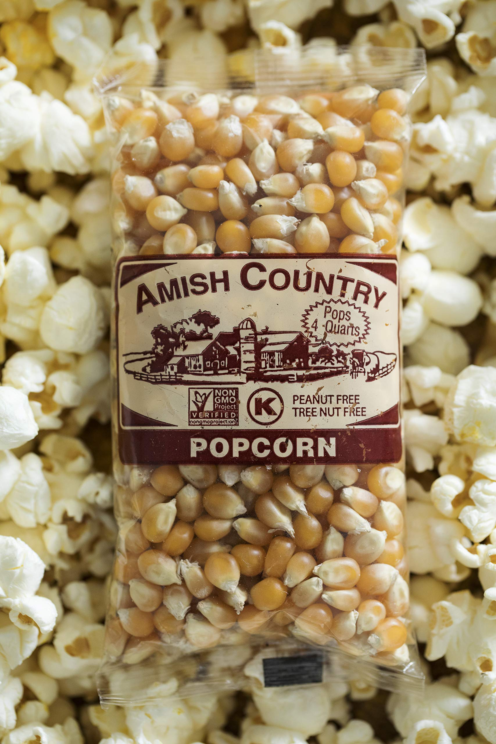 Amish Country Popcorn - Mushroom Popcorn (4 Ounce - 24 Pack) Bags - Old Fashioned, Non GMO, and Gluten Free - with Recipe Guide by Amish Country Popcorn (Image #5)