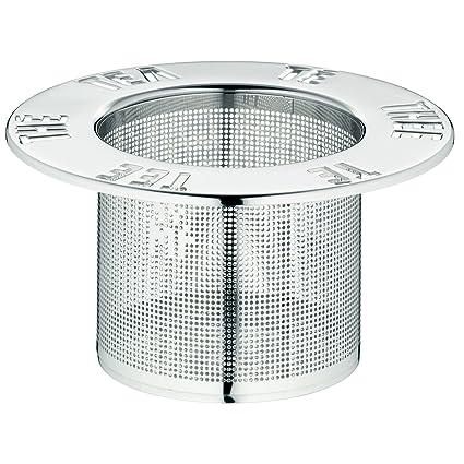 WMF Gourmet Filtro de té para Taza, Acero Inoxidable Mate, Altura 4,5 cm, Ø 9,5 cm