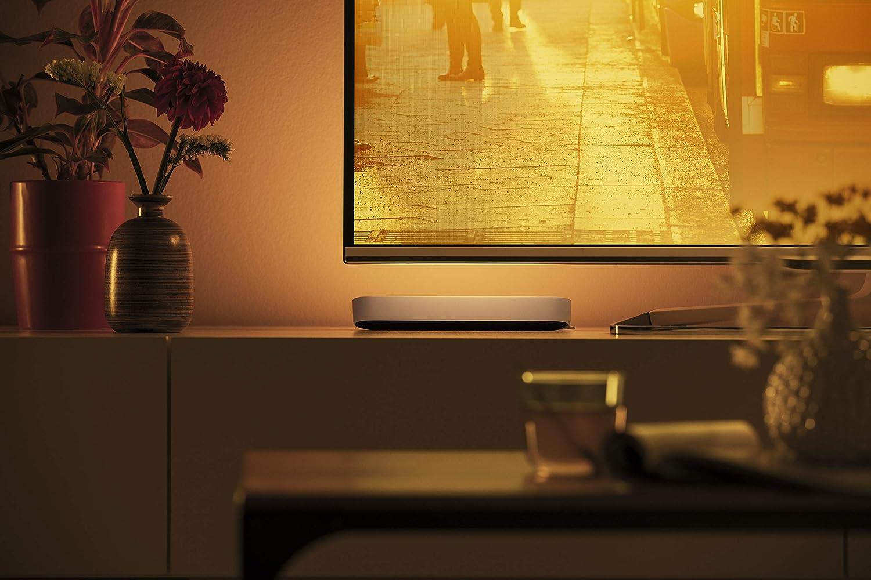 Compatible con Apple HomeKit y Google Home luz Blanca y de Colores Blanco Philips Play Barra Regulable Hue Puente de conexi/ón controlable v/ía WiFi