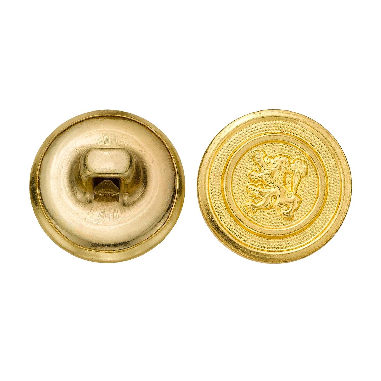 C/&C Metal Products 5248 Lion Metal Button Size 24 Ligne 72-Pack Gold
