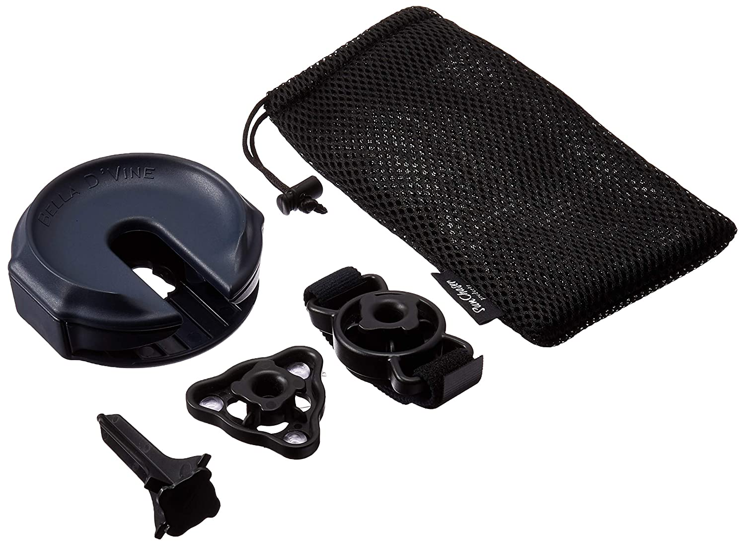 Great Wine Gift Suction Base For Boats Strap For Lawn Chairs Includes Wine Stake For Picnics Outdoor Wine Glass Holder Accessories by Bella D/'Vine Graphite Grey Bath and Hot Tubs