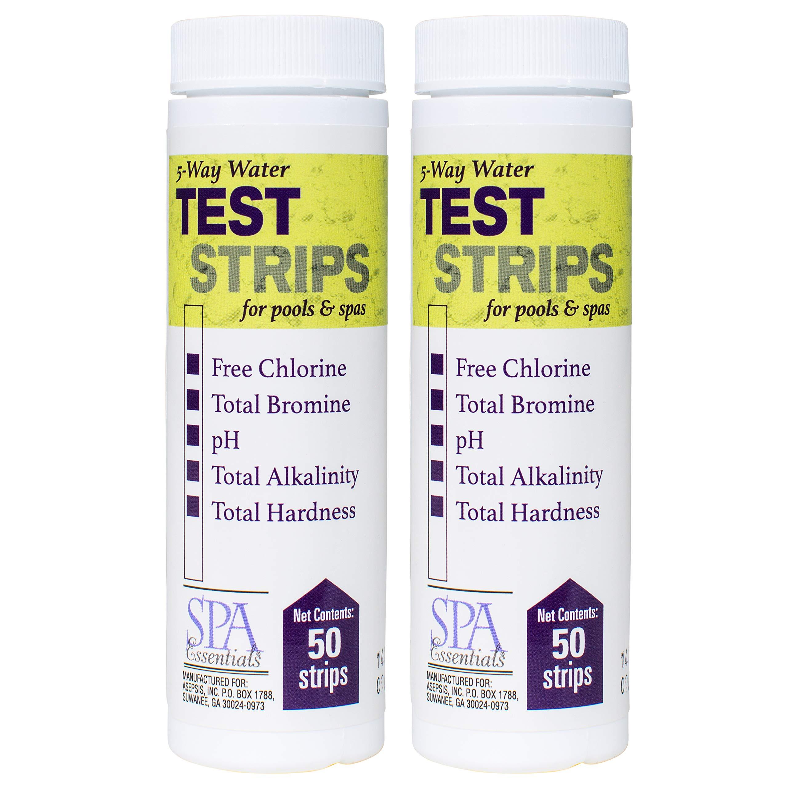 Spa Essentials 5-Way Water Test Strips (2 Pack) by Spa Essentials