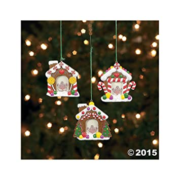 Amazoncom Gingerbread House Photo Ornaments 12 Count Home
