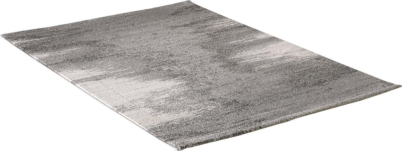 Carpet city Designer Moderner Teppich Eclipse Meeresspiegel Grau Creme Öko Tex 200x290 cm