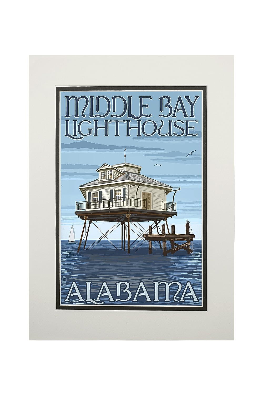 消費税無し 中央ベイ灯台 Alabama – Alabama Print 11 x 14 Matted Art Print LANT-36784-11x14M LANT-36784-11x14M B06XZZ8QRY 11 x 14 Matted Art Print, iQlabo:0d66c8ff --- mcrisartesanato.com.br