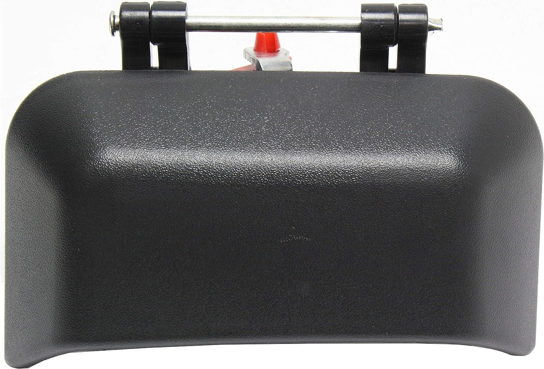 Exterior Door Handle For 2007-2016 Jeep Compass Rear Passenger Black Plastic