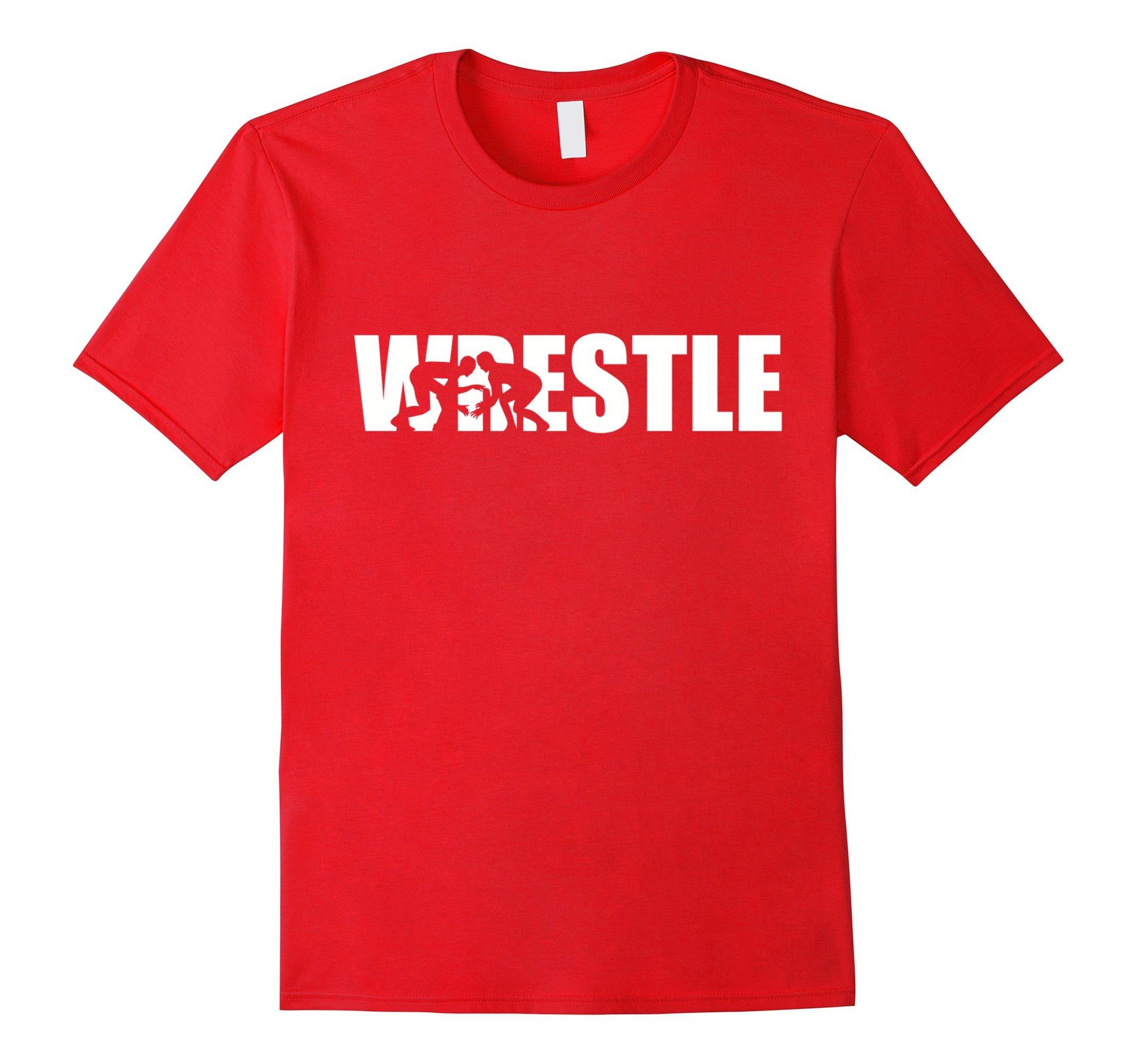 Men's Wrestle wrestling T-Shirt Small Red