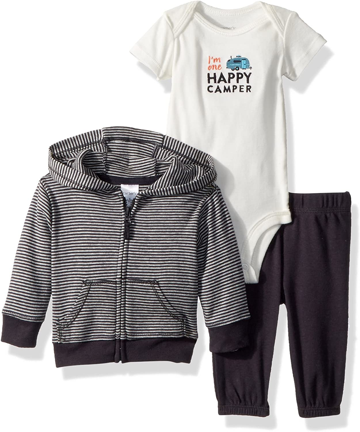Baby Girl Carters 3-Pc Fall Winter Outfit Jacket Bodysuit Top Pant Leggings Vest