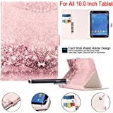 """Universal 10"""" Case, Newshine Synthetic Leather Magnetic Closure [Cards/Money Slots] Flip Stand Wallet Protective Case…"""