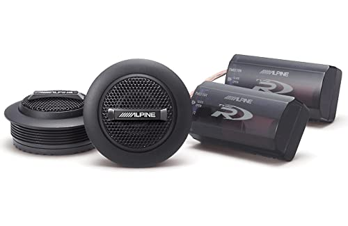 Alpine SPR-10TW 1-inch Silk Ring Dome Car Audio Component Tweeters