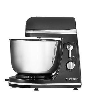 Chefman RJ32-B Legacy Series Power Stand Mixer, Black