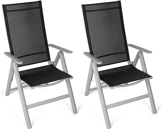 SCHIENALE reclinabile nero TEXTILENE GIARDINO RELAX Sole Sdraio Sedia-Campeggio Spiaggia