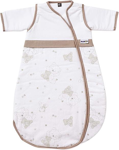 Gesslein Bubou Dessin 158 - Saco de dormir infantil con mangas, diseño de osito marrón (braune Bärenmotive) Talla:110 cm: Amazon.es: Bebé