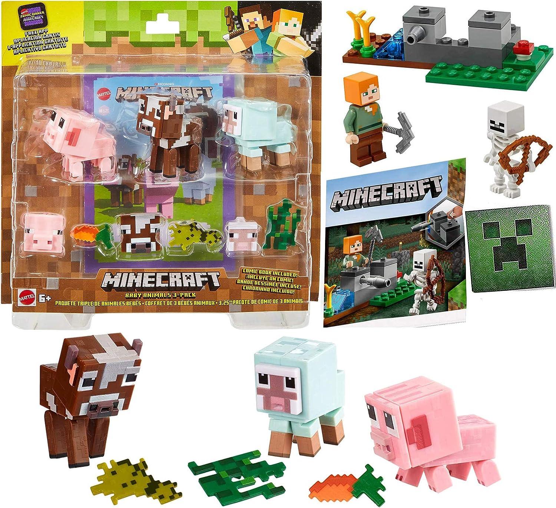 Maker Creeper Compatible con Minecraft Mini Player Set 30393 Steve con Adventure Mini cómic TNT Game Creator 2-Items Minecraft: Amazon.es: Juguetes y juegos