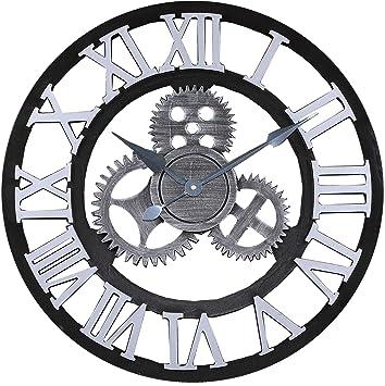 "Jcw 19.7""(50CM) Redondo Reloj de Pared,Antiguo Hecho a Mano de"