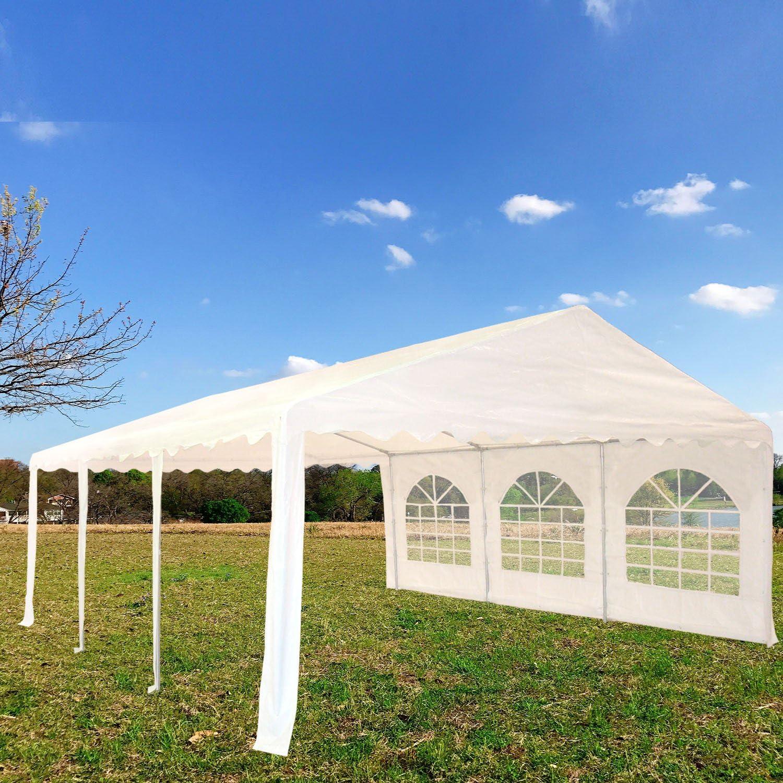 20 x16 pe cenador blanco – Heavy Duty boda Canopy Carport – con ...
