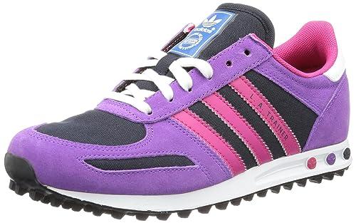 adidas Originals LA TRAINER K - Zapatillas de lona niña, color Violeta, talla 28: Amazon.es: Zapatos y complementos