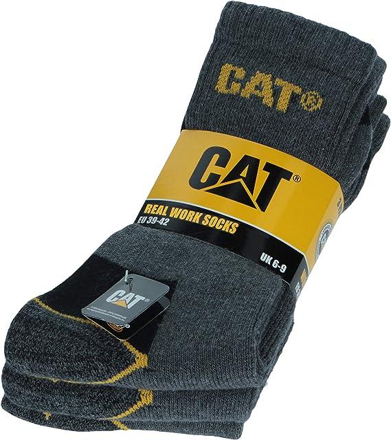 Caterpillar CAT 3 Paia Calze da Lavoro Uomo per Scarpe Antinfortunistica Rinforzate su Tallone e Punta con Trama Rinforzata Filati di Ottima Qualità