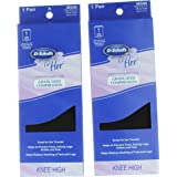 2 Pair Dr. Scholl's Graduated Compression Knee High Socks For Her Sz 5.5-7.5