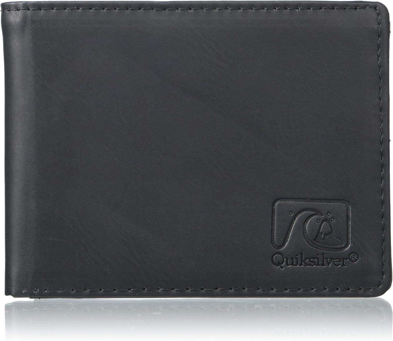 Quiksilver Men's Slim Vintage IV Wallet, black, M: Clothing
