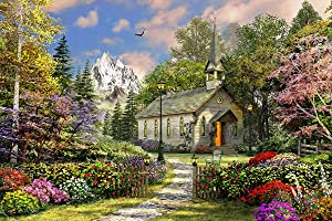 Springbok's 500 Piece Jigsaw Puzzle Mountain View Chapel