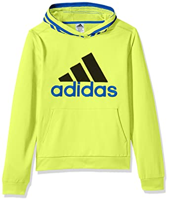 45a8fe828 Adidas Toddler Boys' Athletic Pullover Hoodie, Solar Yellow, 2T: Amazon.in:  Clothing & Accessories